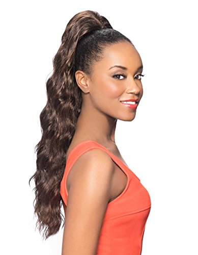 - Foxy Silver (Ds11) - Heat Resistant Fiber Ponytail in 34