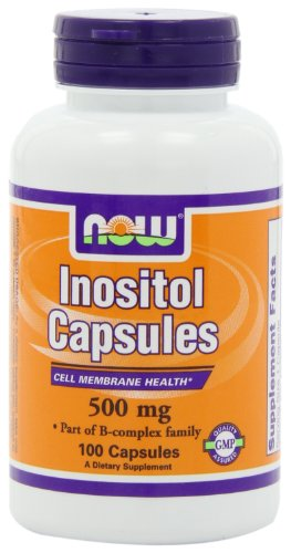 NOW Inositol 500mg Capsules Pack