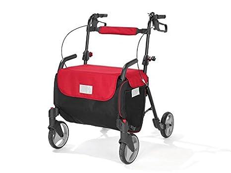 Delta Sport - Andador con ruedas (plegable, con cesta para la compra, con
