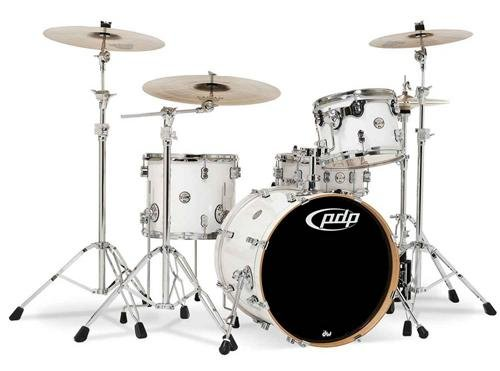 Pacific Drums PDCM2014PW 4-Piece Drumset with Chrome for sale  Delivered anywhere in USA
