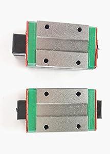 TEN-HIGH 2PCS MGN12H Rail Slide Unit Block For MGN12H Linear Guideway by TEN-HIGH