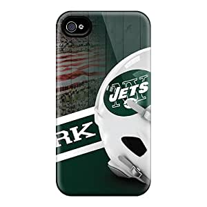 Shock-Absorbing Hard Cell-phone Case For Iphone 6 With Customized Nice New York Jets Skin KellyLast