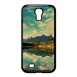 Mountainscape Reflection Watercolor style Cover Samsung Galaxy S4 I9500 Case (Mountains Watercolor style Cover Samsung Galaxy S4 I9500 Case)