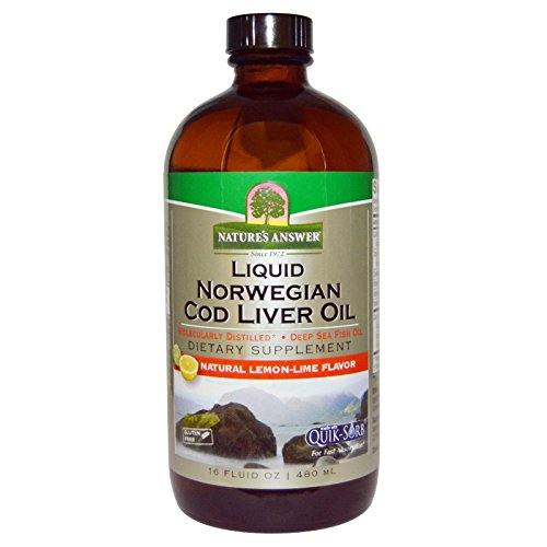 Natures Answer Liver - Nature's Answer, Liquid Norwegian Cod Liver Oil, Natural Lemon-Lime Flavor, 16 fl oz (480 ml)