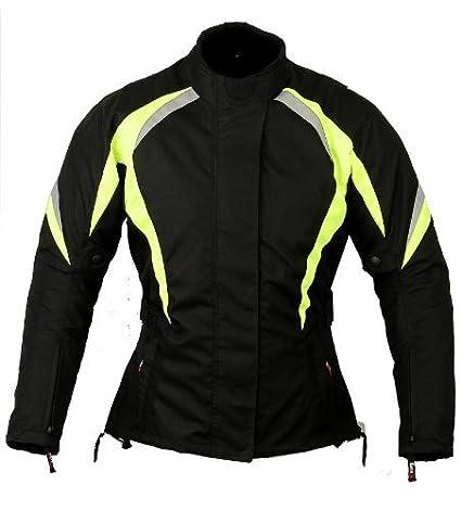 Hivisibilidad Chaqueta de protecció n Mujer Motocicleta Impermeable señ oras, L GearX Lady Hivis Jacket L FBA