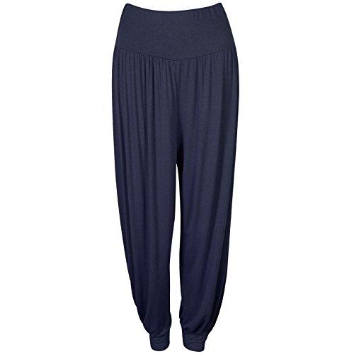 bb62f7f6151d72 Womens Plain Harem Trousers Pants Ali Baba Leggings Baggy Aladin Boho Hippy  8-26 -