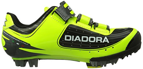 Diadora X TORNADO - Zapatillas de ciclismo de material sintético para mujer amarillo - Gelb (schwarz/gelb/weiß 3444)