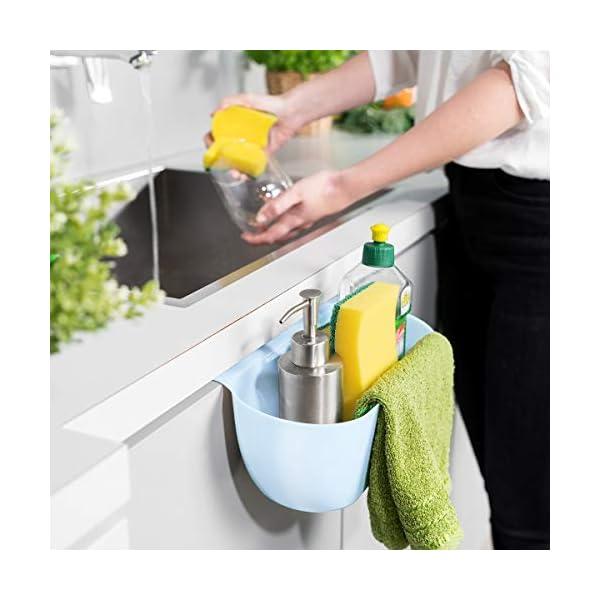 41h96WgQNtL Navaris 2x Auffangschale für Küchenabfälle zum Einhängen - 2er Set Mülleimer Abfall Behälter für Bio Müll - Abfalleimer…