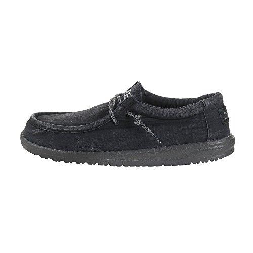 Maschile Lavato Totale Wally Shoes Nero Dude Nero qFpx1Uw8p