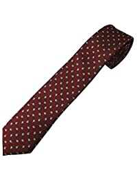 Jacob Alexander Boys' Prep Leon Patterned Neck Tie - Maroon