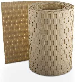 Rollo de paneles de ocultación de ratán 255 x 19 cm para dobles cercas metálicas, RD18 - Beige: Amazon.es: Jardín