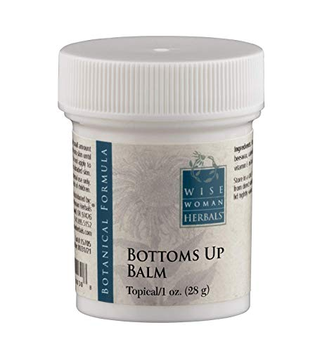 Wise Woman Herbals - Bottoms Up Balm - 1 Oz - Soothing Ointment for Anal Irritation, Reduces Swelling, Aids in Discomfort of Itching and Burning