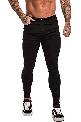 - 41h97RqzE3L - GINGTTO Men's Ripped Jeans Slim Fit Skinny Stretch Jeans Pants