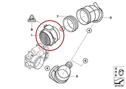 amazon bmw 13 62 7 566 984 mass air flow sensor automotive Ford Mass Air Flow Sensor image unavailable