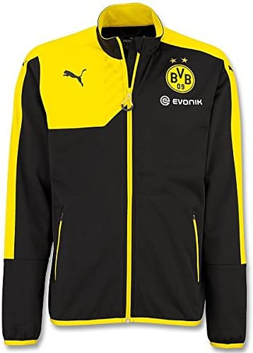 Borussia Dortmund BVB Veste Polaire pour Adulte Noir Taille XXL