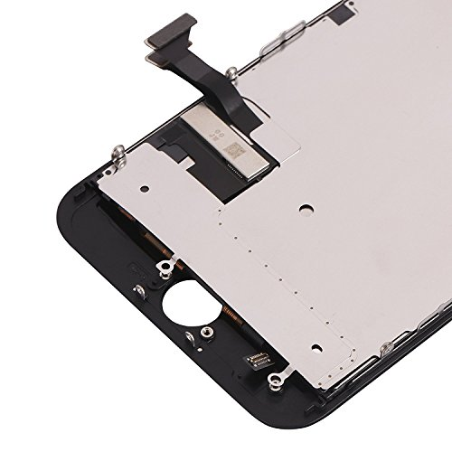 Display Touch Screen LCD Digitizer Assembly with 3D Touch for iPhone 7 Plus (5.5 inch) Replacement (with Front Camera and Sensor + Earpiece Speaker + Shield Plate + Display Frame Adhesive) (BLAC by AiYiA (Image #5)
