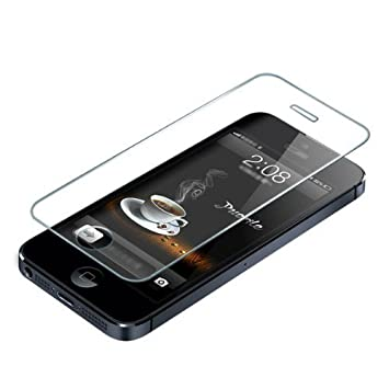 finest selection 16c6c 1bb32 Tempered Glass Screen Protector for iPhone 5 / 5G / 5C / 5S / 5GS