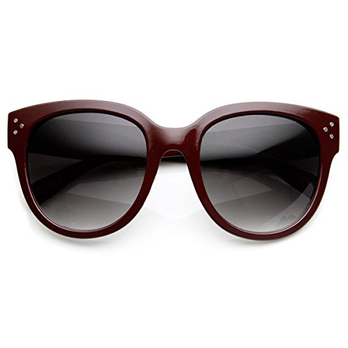 Womens Large Oversized Fashion Horn Rimmed Audrey Sunglasses -