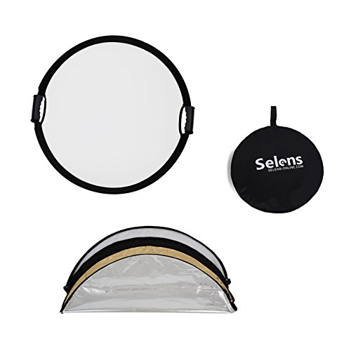 Selens 5-in-1 43 Inch (110cm) Portable Handle Round Reflector Collapsible Multi Disc with Carrying Case for Photography Photo Studio Lighting & Outdoor Lighting by Selens (Image #7)