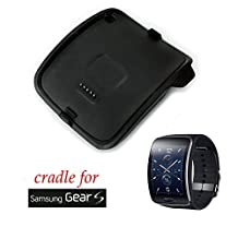 Bradychan® New Smart Watch Charger Cradle Battery Charging Dock Station Desktop for Samsung Galaxy Gear S SM-R750W Smart Watch Black (Samsung Galaxy Gear S SM-R750W)