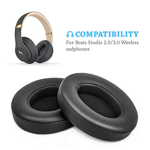 Beats Studio Replacement Ear Pads by Link Dream - Replacement Ear Cushions Kit Memory Foam Earpads Cushion Cover for Beats Studio 2.0 Wired/Wireless B0500 / B0501 & Beats Studio 3.0, ()