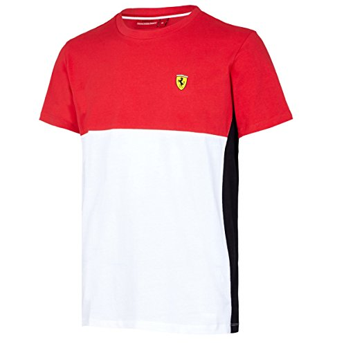 Scuderia Ferrari Formula 1 Men's Red/White/Black 2017 Cut and Sew T-Shirt F1 (X-Large) (Ferrari-london-shop)