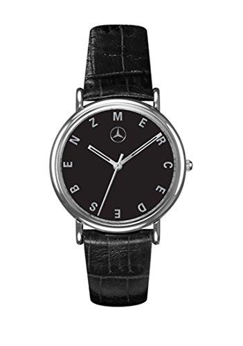 Mercedes Benz Men's Black Dial Watch w/Italian Crocodile Grain Calfskin Leather