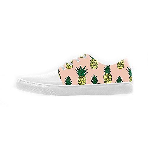 Shoes Women's Le Di Fumetto Scarpe Scarpe Canvas Ananas Custom tXpwq