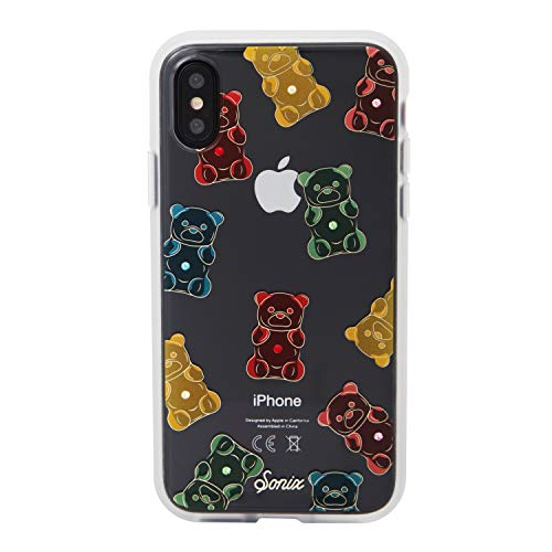 iPhone Xs, iPhone X, Sonix Gummy Bear [Military Drop Test Certified] Womens Crystal Rhinestone Embellished Protective Clear Case for iPhone X, iPhone Xs
