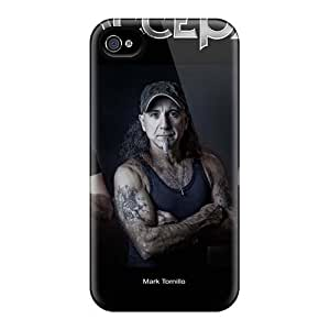 Shock Absorption Hard Cell-phone Cases For Iphone 4/4s With Allow Personal Design High Resolution Megadeth Band Pictures MarieFrancePitre