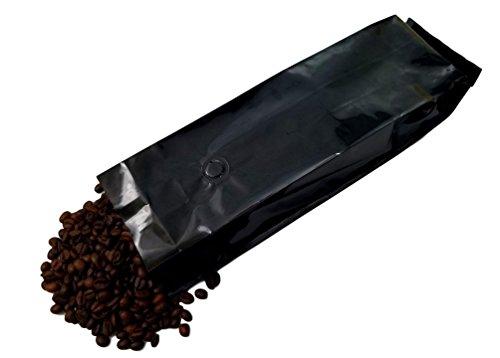 16 oz Foil Coffee Pouch - 1 lb Black Gloss 5 mil Mylar 13