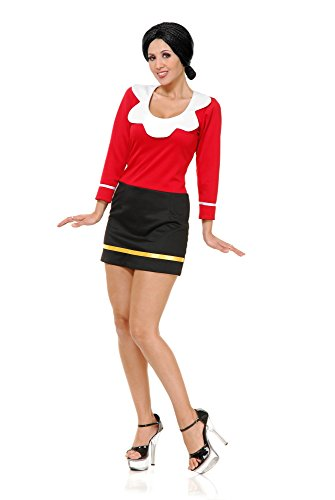 Olive Oyl And Popeye (Charades Women's Olive OYL Costume Dress,)