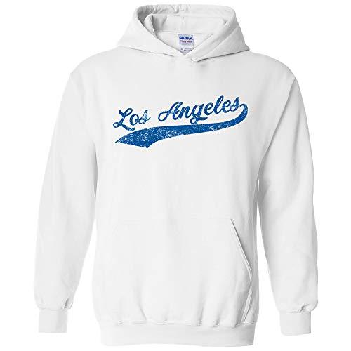 UGP Campus Apparel Los Angeles Baseball Script - Hometown Pride, Pitcher Hoodie - Large - ()