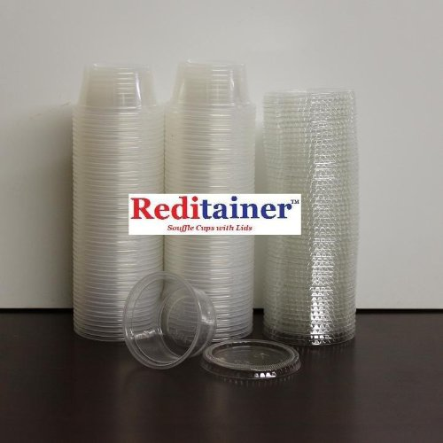 Reditainer Plastic Disposable Portion Cups Souffle Cup