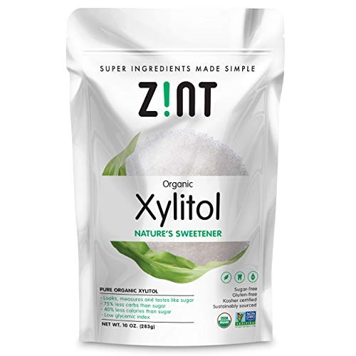 Organic Xylitol Sweetener (10 oz): Keto Friendly, Organic Certified Natural Sugar Substitute, Non GMO, Low Glycemic Index, Measures & Tastes Like ()