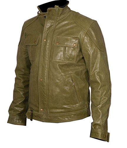 Wesley Wanted Green Men's Leather Jacket