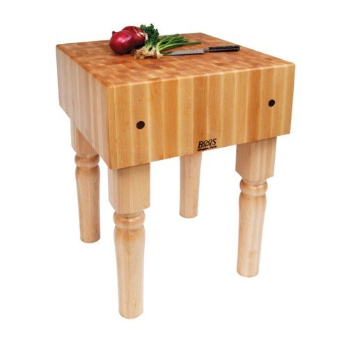BoosBlock AB Prep Table with Butcher Block Top Size: 24