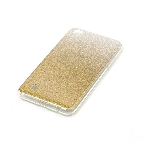 Ecoway TPU Funda Case for LG X Power , Ultra Thin Carcasa Anti Slip Soft Bumper Scratch Resistant Back Cover Crystal Clear Flexible Silicone Case Parachoques Carcasa Funda Bumper - púrpura marrón