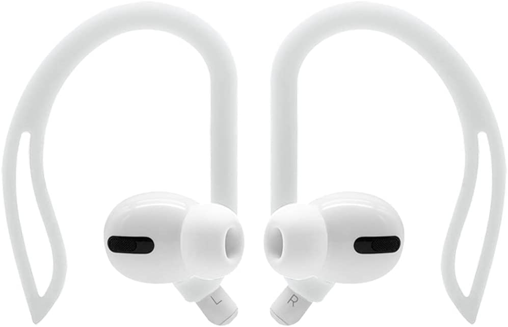 YINVA Ear Hooks Compatible with AirPods Pro [Premium Silicone] Accessories Compatible with Apple AirPods 1 & AirPods 2 (White)