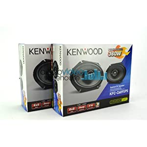"2 pair Kenwood KFC-C6895PS 6""x8"" Performance Series 3-Way Custom Fit Coaxial Car Speakers (4 speakers)"