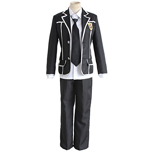 YLMBMEI Boy's Cosplay Japanese Anime Evil Diadem Cool School Uniform Suit,Asian Size XL:Bust (Cool Costumes For School)
