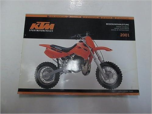 2001 KTM 50 Mini JR SR Adventure SX Junior Senior Owners