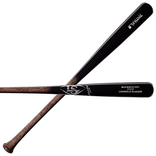 - Louisville Slugger C271 MLB Prime Maple Miner Baseball Bat, Gray Spark/Fade Black, 32