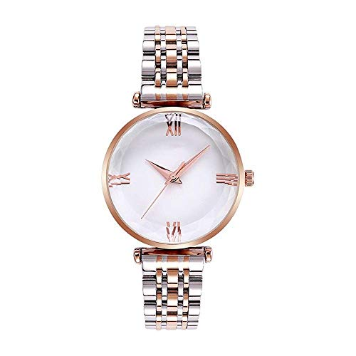 BEWITCHYU Practical Wristwatches Women 's Simple 9Mm Quartz Watch 35Mm Solid Steel Belt Casual Fashion Decorative Watch Bracelet