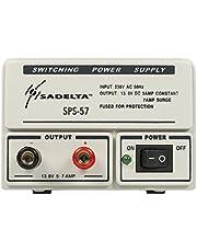 SADELTA SPS-57 schakelende voeding 220 V/13,8 V 5-7 ampère ideaal voor elektronica, hobby's.