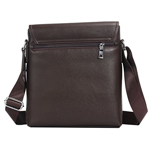 Eagle - Bolso al hombro para hombre negro Black - 1587 mediano Dark Brown Model-6028