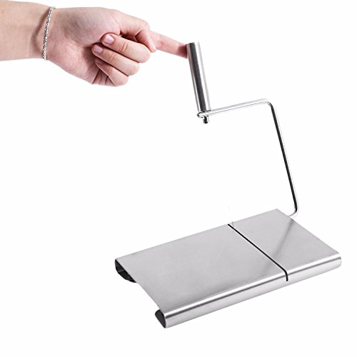 Eco-friendly Stainless steel Cheese Slicer Butter Cutting Board Butter Cutter Knife Board Kitchen Kitchen Tools by gogil (Image #3)