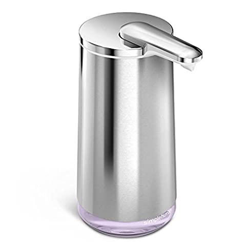 simplehuman Foam Cartridge Sensor Pump With Lavender Hand Soap, High-Grade Stainless Steel