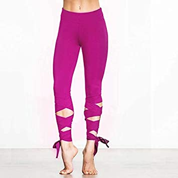 b7dc46c9ad3 Image Unavailable. Image not available for. Color  TreeMart Simenual Lace  up Strappy Leggings Women Fitness Slim Sexy Bandage Summer Legging  Sportswear ...