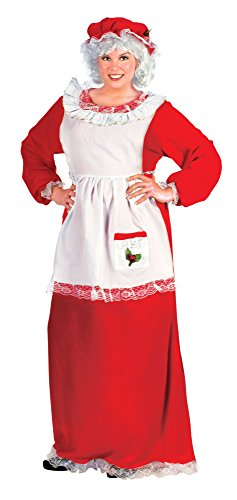 Fun World Costumes Women's Plus-Size Plus Size Adult Mrs.Claus Promo Suit, Red/White, (Mrs Santa Dresses)